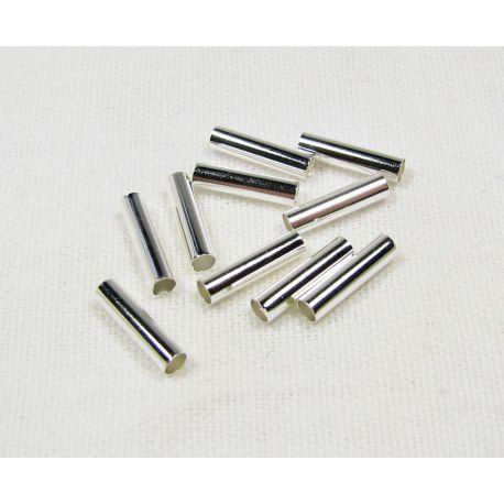 Intarpas skirtas papuošalų, rankdarbių gamybai, sidabro spalvos, vamzdelio formos 2 mm 100 vnt