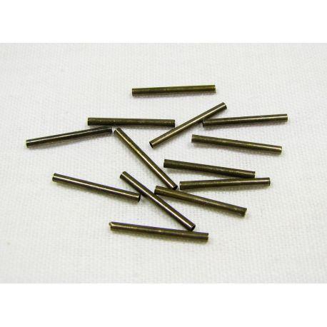 Intarpas skirtas papuošalų, rankdarbių gamybai, sendintos bronzinės spalvos, vamzdelio formos 1,5 mm 100 vnt