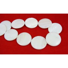 Perlų masės karoliukai 30 mm, 1 vnt.