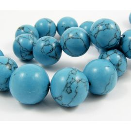 Synthetic turquoise beads 18 mm, 1 pcs.