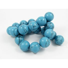 Synthetic turquoise bead thread 18 mm