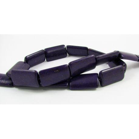 Sintetinio turkio gija, violetinės spalvos, stačiamapio formos, dydis 24x14 mm
