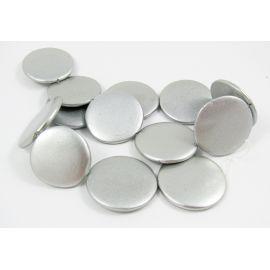 Perlų masės karoliukų gija randarbiams, papuošalams, suvenyrams, sidabro spalvos, monetos formos, 30 mm