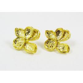"Kabliukai auskarams ""Gėlytė"", 1 pora 24x22 mm"