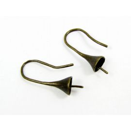 Hooks for earRings, 1 pora 16x11 mm