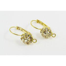 Brass hooks for earrings 23x10 mm, 2 pairs