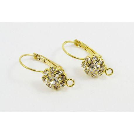 Žalvariniai kabliukai auskarams, aukso spalvos, 23x10 mm dydžio