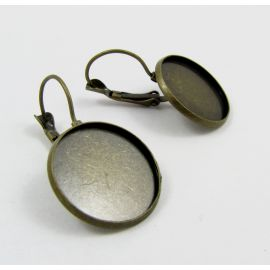 Žalvariniai kabliukai auskarams 20 mm, 1 pora