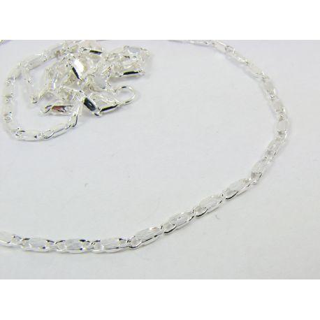 Grandinėlė sidabro spalvos, pakabukams, rankdarbiams, papuošalams 1,8 m, 46 cm ilgio
