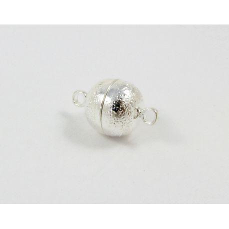 Magnetinis užsegimas, rankdarbiams, sidabro spalvos, dydis 10 mm