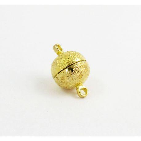 Magnetinis vėrinio užsegimas, aukso spalvos, 10 mm, 1 vnt.