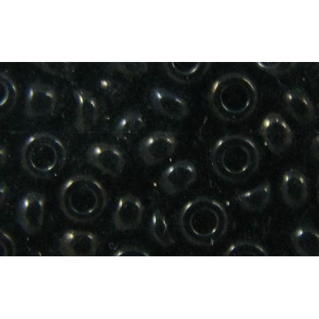 Čekiškas biseris 9/0 (2.6 mm) dydžio, 23980-9 juodos spalvos, apvalios formos 50g