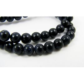 Blue goldstone beads 6 mm