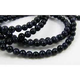 Cairo Night Beads Dark Blue Round Shape 4mm