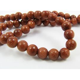 Blue goldstone beads 4 mm