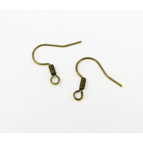 Kabliukai auskarams, sendintos bronzinės spalvos, dydis apie 15 mm 5 poros