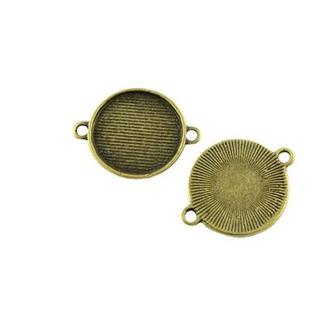 Paskirstytojas kabošonui/kamėjai, sendintos bronzinės spalvos,2 kilpšų, dydis 25x20 mm