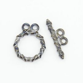 Clasp with sticker 15x11 mm