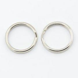 Raktų žiedas, tamsios sidabro spalvos, dydis ~30 mm, 1 vnt.