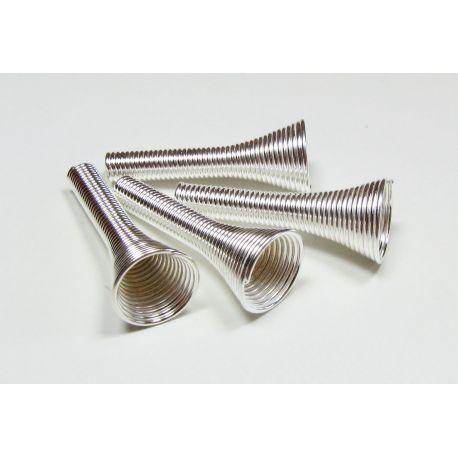 Kepurėlė skirta papuošalų gamybai, karoliukams, akmenukams, sidabro spalvos 25x10 mm dydžio
