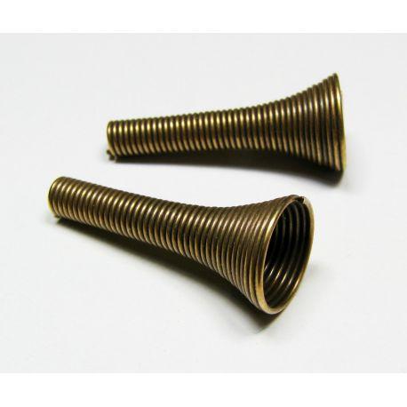 Kepurėlė skirta papuošalų gamybai sendintos bronzinės spalvos 24x10 mm