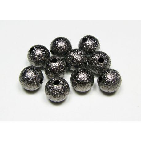 Intarpas skirtas papuošalų gamybai, juodos spalvos, apvalios formos, dydis 8 mm, 1 vnt