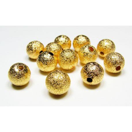 Žalvarinis intarpas aukso spalvos, dydis 8 mm, 10 vnt