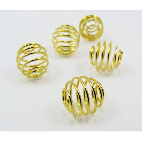 Intarpas skirtas papuošalų gamybai, aukso spalvos, dydis 9x9 mm, 1 vnt