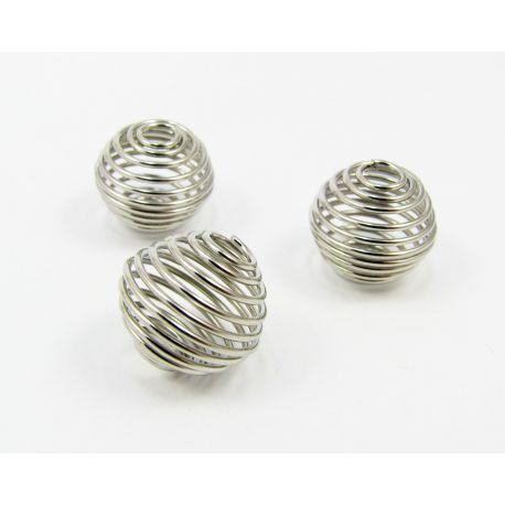 Intarpas skirtas papuošalų gamybai, tamsios sidabro spalvos, dydis 14x12 mm, 1 vnt