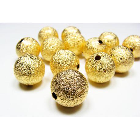 Intarpas skirtas papuošalų gamybai, aukso spalvos, apvalios formos, dydis 12 mm, 1 vnt