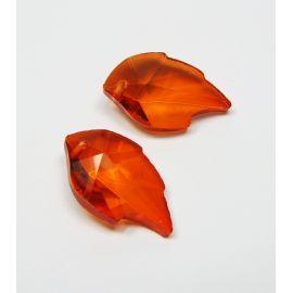 Swarovski kristalas, oranžinės spalvos, lapo formos, dydis ~25x15 mm