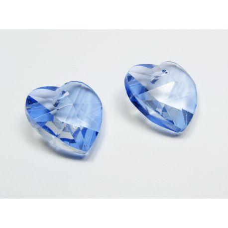 Swarovski kristalas, šviesiai mėlynos spalvos, širdelės formos, dydis ~18x18 mm