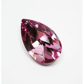 "SW kristalo pendant ""leaf"" 25x15 mm, 1 pc."