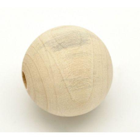 Mediniai karoliukai 10 mm, 1 vnt.