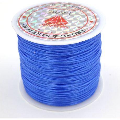 Elastinė gumutė ryškiai mėlynos spalvos 0.80 mm storio 10 metrų