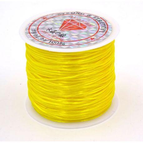 Elastinis siūlas/gumytė skirtas papuošalų, rankdarbių gamyboje, geltonos spalvos, 0.80 mm storio 10 metrų