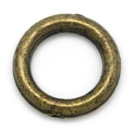 Uždaras žiedelis rankdarbiams bronzinės spalvos 6 mm 10vnt.