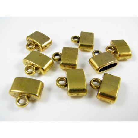 Kepurėlė žgutams, skirta papuošalų gamybai sendintos aukso spalvos 11x5 mm