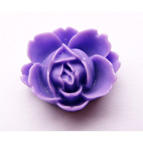 Kamėja skirta papuošalų - rankdarbių gamyboje, violetinės spalvos 21x19mm