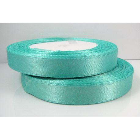Satino juostelė, žydrai žalios spalvos, 12 mm pločio, 1 ritinėlis