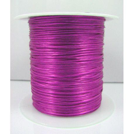 Elastinė gumutė skirta papuošalų, rankdarbių gamyboje, ryškiai purpurinės spalvos, 0.80 mm storio 10 metrų ritėje