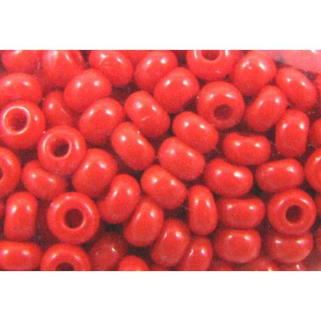Čekiškas biseris 93170 11/0 dydžio, skaisčiai raudonos spalvos, apvalios formos 50g