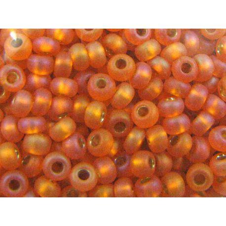 Čekiškas biseris (39001/97009) 11/0 matiniai, oražinės spalvos, apvalios formos 50g