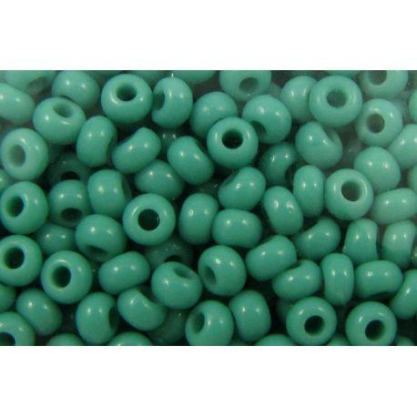 Čekiškas biseris 1/0 (6,6mm) dydžio, 63130-1 žalia spalvos, apvalios formos 50g