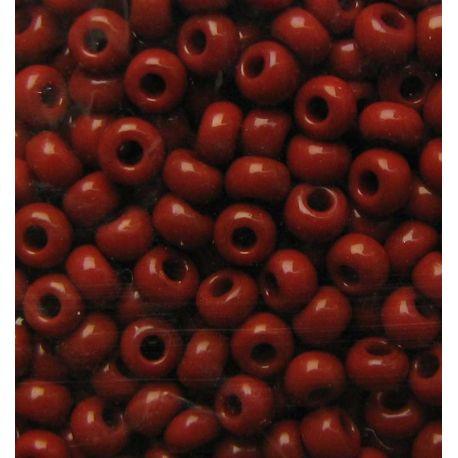 Čekiškas biseris 6/0 (4,1mm) dydžio, 13600-6 rudos spalvos, apvalios formos 50g