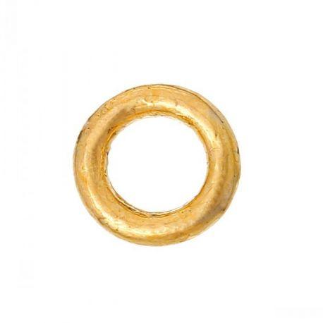 Uždaras žiedelis skirti papuošalų,rankdarbių gamybai, aukso spalvos 4 mm 10 vnt.