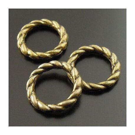 Uždaras dekoratyvinis žiedelis bronzinės spalvos 8 mm 10 vnt.