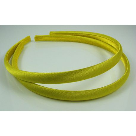 Lankelis plaukams, su satinu, geltonos spalvos 1 vnt.