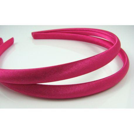 Lankelis plaukams, su satinu, ryškios rožinės spalvos 1 vnt.