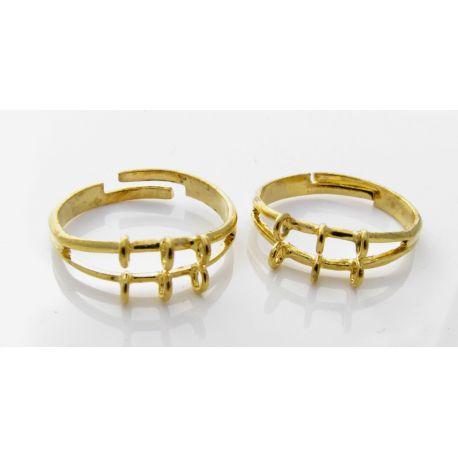 Žiedo pagrindas, aukso spalvos, 17 mm